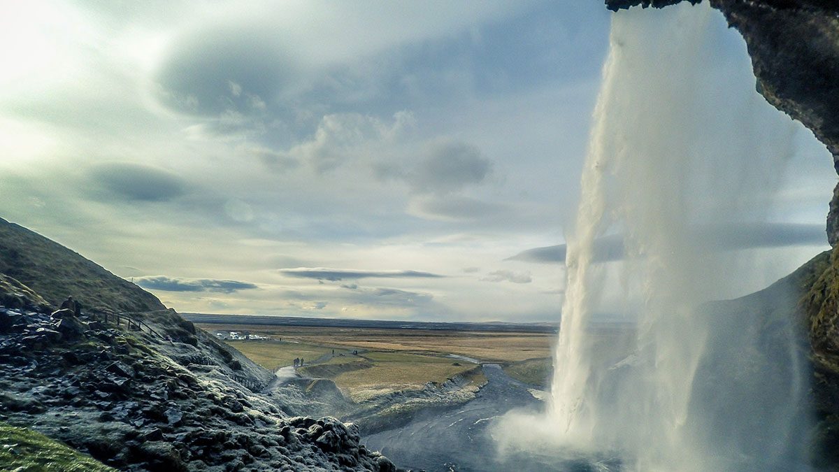 Iceland waterfall Gullfoss